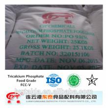 Phosphate tricalcique blanc en poudre de qualité alimentaire