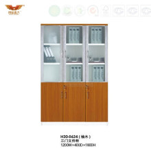 Modern Office Furniture Filing Cabinet with Glass Doors (H30-0634)