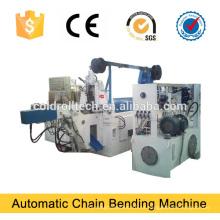 Dobladora automática de la cadena del acoplamiento de alambre de acero para la fabricación en cadena