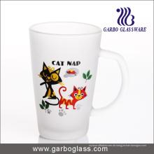 12oz Frosted Kaffee Glas Tasse mit trinken (GB094212-DR-110)
