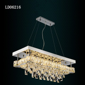 Led Square Lighting Crystal Pendant Modern