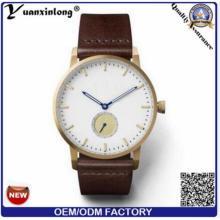 Yxl-018 2016 Heiße Verkaufs-kleine Handuhr-Frauen und Mann-echtes Leder-Bügel-einfache Uhr
