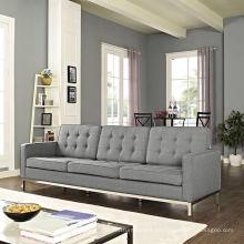 Muebles de casa Set de sofá de tela de 3 plazas
