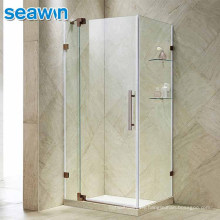 Seawin Luxury Rectangle Stainless Steel 10Mm Frameless Double Cabin Enclosure Shower Room Set