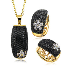 925 Sterling Silver Jewelry Set Micro Pave Setting