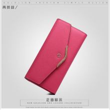 Guangzhou Supplier Wholesale PU Leather Envelope Lady Wallet (174)