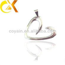 china alibaba Stainless Steel Jewelry men's pendant, custom hollow heart pendant