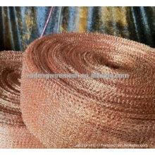 Grillage tricoté par cuivre pour faire la récureuse de maille et la boule d'épurateur