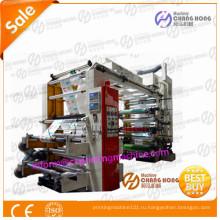 Флексографская печатная машина для пластиковых пакетов высокой печати