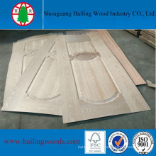Natural Red Oak Veneer Moulded HDF Doorskin
