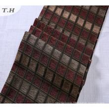 Plain Chenille Jacquard Weaving Fabric of Plant Designs