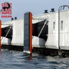 Guardabarros de cono SCN de caucho natural para puerto de muelle