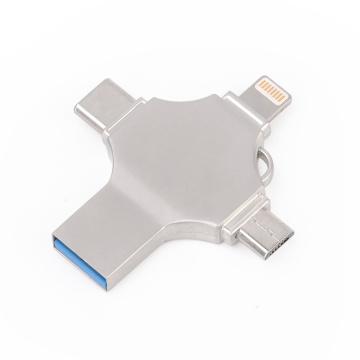 Unidad flash USB 4 en 1 para Iphone