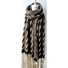 Acrylic Knitted Shawl (12-BR201712-8)