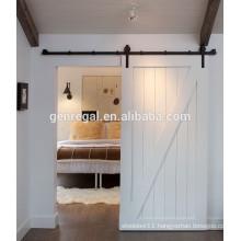 Hotel interior sliding wood doors