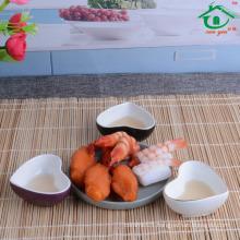 China supplier Hot Selling heart shape Sushi Dish