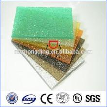 barato sólida hoja de policarbonato en relieve