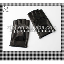 men genuine leather car driving gloves without fingers