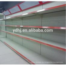 Perforiertes Metall-Supermarkt-Regal mit Leuchtkasten