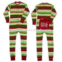 2016 vente chaude bébé rayé pyjamas famille pyjamas pour adultes et enfants