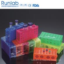 Bastidores de tubos de 4 vías para tubos micro y tubos de 50 ml y 15 ml