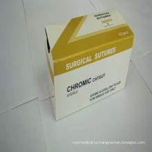 Médicamente absorbible Ethicon Chromic Catgut Sutura con aguja 13485