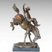 Soldaten Figur Statue Cowboy Bronze Skulptur TPE-274