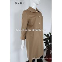 Professional manufacturer Luxury anti-pilling 100%cashmere overcoat