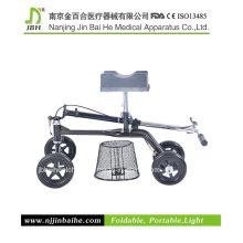 Deluxe Roller Stahl Knie Walker für ältere Menschen