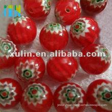 chevron trade beads 10mm red