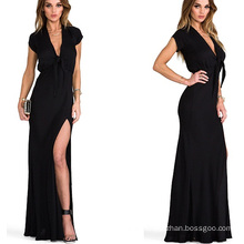Hot Sale 2015 Short Sleeve Maxi Summer Women Party Dress