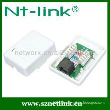 Cat 5e single port junction box distribution box connection box