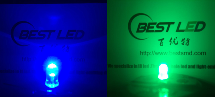 blue and green led 6