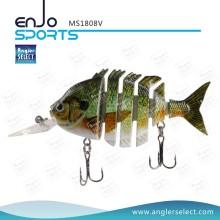Angler Select Multi Jointed Fischen Leben-wie Köder Bass Bait Swimbait Shallow Hard Lure Angeln Köder (MS1808V)