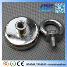 132lb Ziehen D48X11.5mm Magnettopf Magnet
