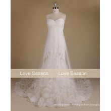 MRY064 Real factory top quality wedding dress a line sleeve wedding gowns detachable cap sleeves lace wedding dress