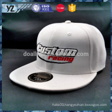 top quality adult unisex gender white snapback cap