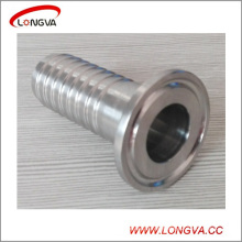 Tubo sanitario de acero inoxidable 304 que cabe el conector de manguera con triple abrazadera