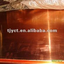 Folha de cobre 99,9% placa de cobre pura