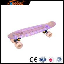 Superier quality mini longboard led skateboard with four wheel
