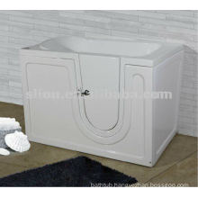 Acrylic square walk in bathtub for disbled and elderly