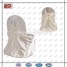 Guangzhou Factory Wholesale Wedding Used Cheap Colorful Satin Chair Cover