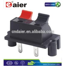 Daier WP2-6B 2P Rot & Schwarz Clip Lautsprecheranschluss Federclip Stecker