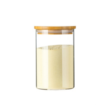 hot selling little glass tea jar with cork straw lids