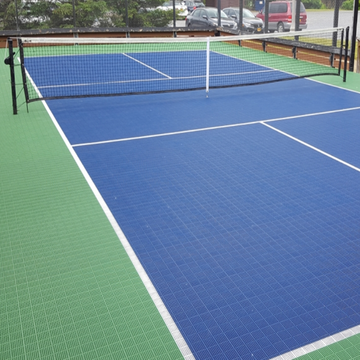 Outdoor Kunststoff Interlock modularer Pickleball-Bodenbelag