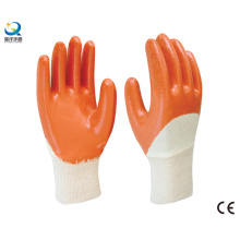 Cotton Jersey Shell Nitrile Coated Safety Work Gloves (N6038)