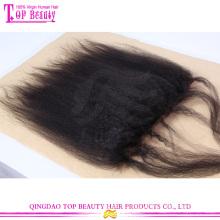 Chaud soie droite kinky vente dentelle fermeture frontale en gros pas cher dentelle frontale fermeture 7 a grade cheveux brésiliens haut fermeture de base