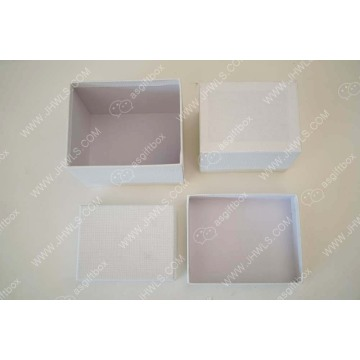 Wholesale caja de regalo de caramelo rectangular blanco