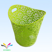 Hotel supply decorative metal mesh hotel room hanging trash can