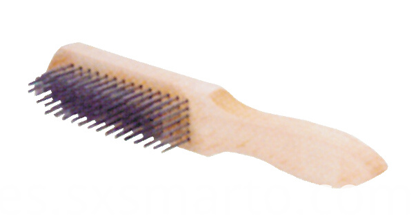 Wooden Handle Steel Wirs Brush